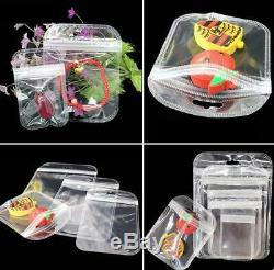 Clear Plastic Bag Zip Lock Data Line Charger PVC Jewelry Hang Hole Packing Pouch