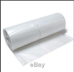Clear Plastic Bags Heavy Duty 30 Micron 675 x 1250 x 2300mm 150 Bags 26x49x90