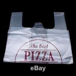 Clear Plastic Packaging Bag for Pizza Reusable Large Carrier Bags Packing Pouch