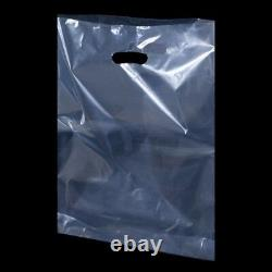 Clear Polythene Plastic Carrier Bags Shopping Bags PartyGift Bags 22 x 18 x 3