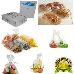 Clear Polythene Plastic Food Approved Bags 100 Gauge All Sizes / Qtys