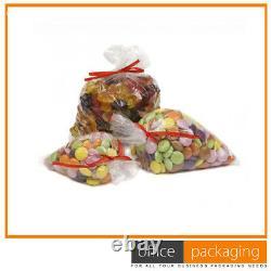 Clear Polythene Plastic Food Bags Freezer Storage 20x30 200 Gauge 1000 Pcs