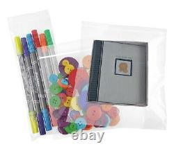 Clear Reclosable 4-Mil Heavy Duty Zip Lock Plastic Bags Zipper Poly Jewelry Bag