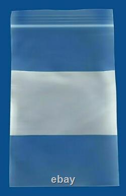 Clear Reclosable Bag with White Block 4 x 6 2 Mil Storage Polybag 16000 Pieces
