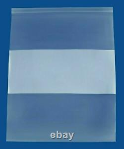 Clear Reclosable Bags 13x18 2 Mil Plastic Polybags with WhiteBlock 4000 Pieces