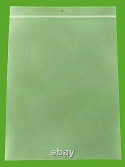 Clear Reclosable Bags 8x10 2 Mil Plastic Polybags with Hang Hole 4000 Pieces