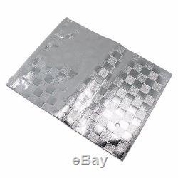 Clear/Silver Plastic Mylar Foil Storage Bag Resealable Zip Grip Clothes Pouch