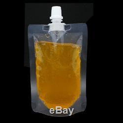 Clear Spout Bags Stand Up Bag Cap Liquid Flask Transparent Plastic Juice Pouches