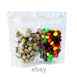 Clear Stand Up Plastic Pouches Zip Bags Food Storage Lock Packaging Resealable