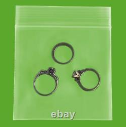 Clear Ziplock Reclosable Plastic Bag, 4 Mil, 3 x 3 16000 Pieces