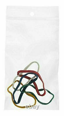 Clear Zipper 3 x 5, Hang up Reclosable, 4 Mil Bead Plastic Bags 12000 Pieces
