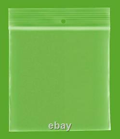 Clear Zipper 4 x 6, Hang up Reclosable, 2 Mil Bead Plastic Bags 16000 Pieces
