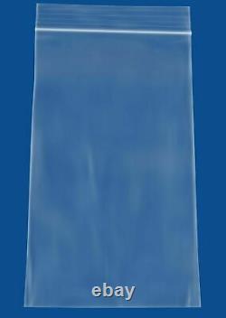 Clear Zipper Bags, 2 Mil 4 x 8, Bead Plastic Storage 12000 Pieces