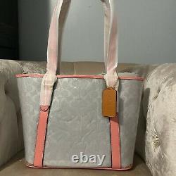 Coach 2564 Ferry tote bag clear Signature Transparent Handbag Pink lemonade New