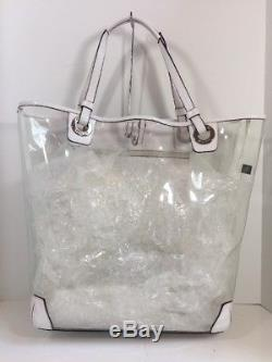 Coach Extra-Large Clear Plastic Leather Beach Tote Crab 16594 $328 X1