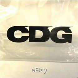 Comme des Garcons JAPAN Clear CDG Logo Plastic PVC Large Tote Bag AUTHENTIC