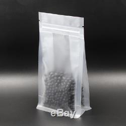 Cookie Packing Bag Stand Up Zip Lock Plastic Side Gusset Candy Matte Clear Pouch