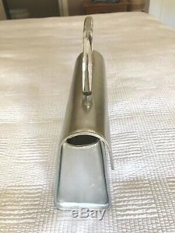 Courreges PARIS Metallic Silver & Clear Plastic Handle Purse