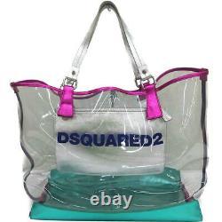 DSQUARED2 Dsquared Mykonos transparent tote bag / plastic bag clear 2314