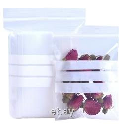 Flat Plastic Bag for Zip Packaging Writable Lock Poly Food Coffee Tea Pouches