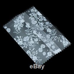 Frosted Clear Cookies Baking Package Plastic Bags Wedding Gift Candy Roses Pouch