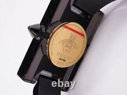 GUCCI 143.5 Black Ladies Watch Vintage W / Box Storage Bag
