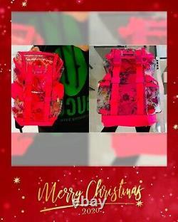 GUCCI Floral Green Pink Clear PVC Backpack LARGE MEN WOMEN Designer Bag Plastic