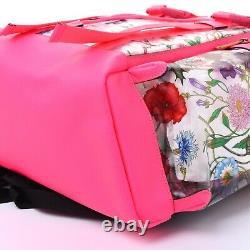 GUCCI Floral NEON PINK Clear PVC Backpack Medium WOMEN Men Designer Bag Plastic
