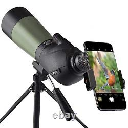 Gosky 20-60x60 HD Spotting Scope with Tripod, Carrying Bag and Scope Phone 45