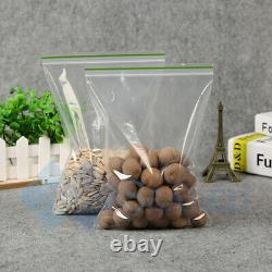 Grip Seal Bag Resealable Zip Lock Plastic Bags Reusable Clear Poly Bag All Sizes