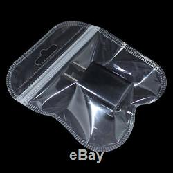 Grip Seal Bags Resealable Retail Poly Plastic Clear Zip Lock Pouch Hang Hole