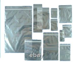 Grip Seal Bags Self Resealable Grip Poly Plastic Clear Zip Lock MIX All Sizes