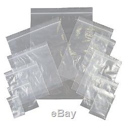 "Medium 3.5/"" x 4.5/""Grip Seal Plastic Bags Clear Polythene Resealable Zip Lock"