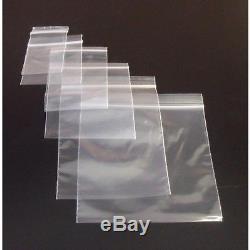 Zipper BAGS Grip Seal Self Resealable Mini Grip Poly Plastic Clear Zip lock