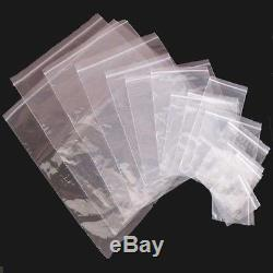 Grip Seal Bags Zip Lock Bags Clear Plain Self Resealable Polythene Plastic