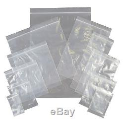 "GRIP SEAL SELF SEAL 8/"" x 11/"" Self Grip Seal Plastic Bags Resealable Reusable"