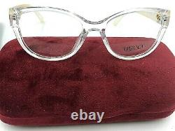 Gucci Womens Eyeglasses GG 1123 Italy 52 15 139 Clear with Bag and Case GUC