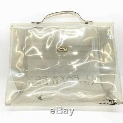 HERMES Kelly clear bag plastic transparent N593