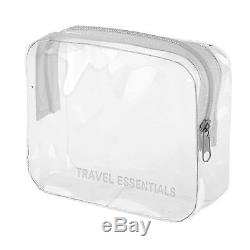 HOLIDAY TRAVEL TOILETRIES BAG Plastic Air line Airport Toiletry Bag NEW