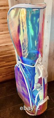 HONMA GOLF Caddy Bag Skeleton Aurora Gold White Clear Not For Sale Ultra Rare
