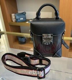 HOT! NWT! MCM Berlin Transparent Block Mini Crossbody Bag Shoulder Bag Black