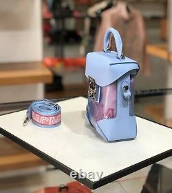 HOT! NWT! MCM Berlin Transparent Block Mini Crossbody Bag Shoulder Bag Blue bell