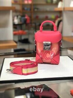 HOT! NWT! MCM Berlin Transparent Block Mini Crossbody Bag Shoulder Bag Teaberry