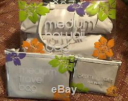 Hawaii BLOOMINGDALES Clear Hawaii Brown Bag Set 3x Bloomies Vinyl Plastic