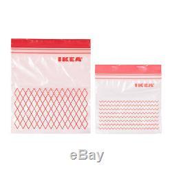 IKEA ISTAD Plastic Ziplock Resealable Food Sandwich Freezer Storage Bags