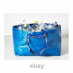 Ikea 10 Piece Frakta Large 19 Gallon Blue Shopping Laundry Bag Free Shipping