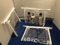 Job Lot Of 400 Clear Bags Plastic PVC Travel Cosmetic Toiletry Zip Bag