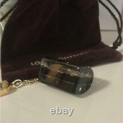 LOUIS VUITTON BAG CHARM AND KEY RING HOLDER Porte clefs Black Gold Clear