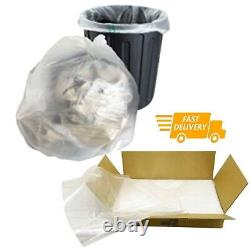 Large CLEAR Refuse Sacks Bin Liner Rubbish Bags thick 100g & 150g 18x29x39