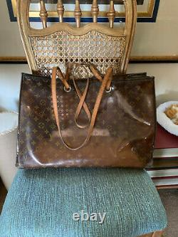Louis Vuitton Rare Clear Plastic Tote Bag with monochrome logo on. Leather Strap
